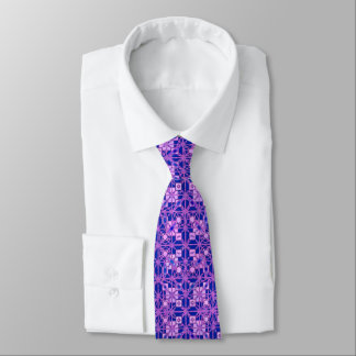 Tribal Batik - shades of purple Tie