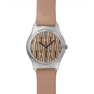 Tribal Batik - Tan, Dark Brown and Cream Watch