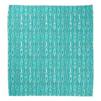 Tribal Batik - Turquoise and Aquamarine Bandana