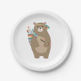 Tribal Bear Paper Plates