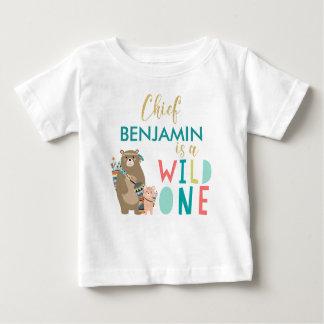 Tribal Bear Wild One 1st Birthday Shirt