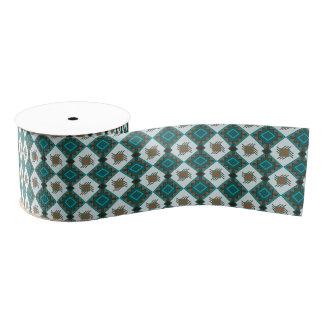 Tribal boho rustic style pattern grosgrain ribbon