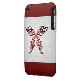 Tribal Butterfly Tattoo Case-Mate iPhone 3G-3GS Case-Mate iPhone 3 Cases