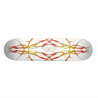 Tribal Deer Skull Tattoo - flame 21.6 Cm Old School Skateboard Deck