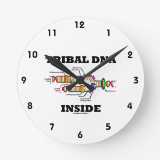 Tribal DNA Inside (DNA Replication) Round Clock