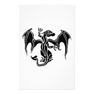 Tribal dragon stationery