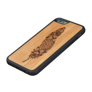 Tribal Feather Carved Cherry iPhone 6 Bumper Case