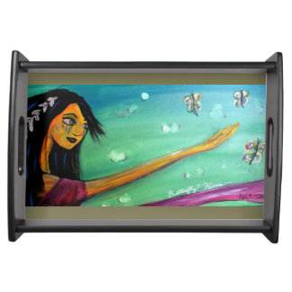 Tribal Girl - Serving tray