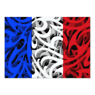 Tribal Graffiti Flag of France Card