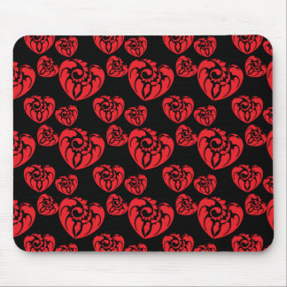 Tribal Heart 3 Red Mouse Pads