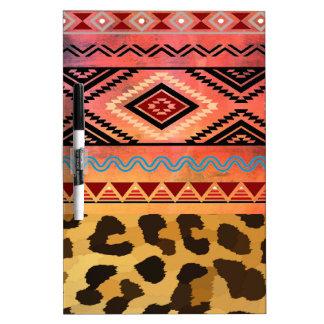 Tribal Leopard Dry Erase Board