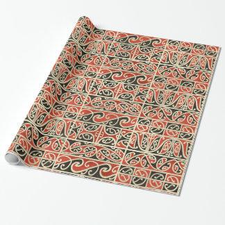 Tribal Maori Kowhaiwhai Koru New Zealand Pattern Wrapping Paper