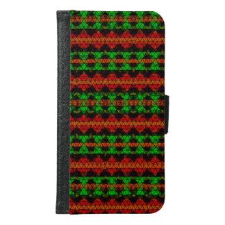 Tribal mosaic pattern samsung galaxy s6 wallet case