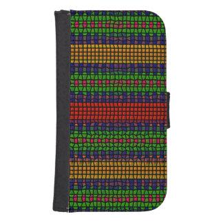 Tribal mosaic samsung s4 wallet case
