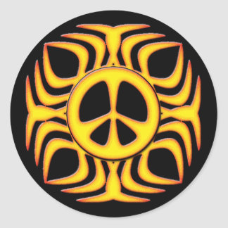 TRIBAL PEACE SIGN STICKERS