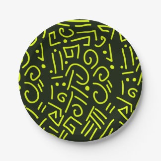 Tribal Plates 7 Inch Paper Plate
