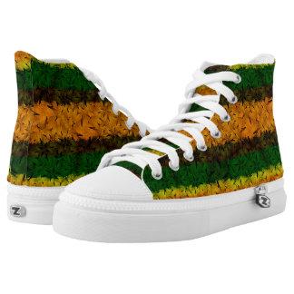 Tribal Reggae Nature Printed High Top Shoes