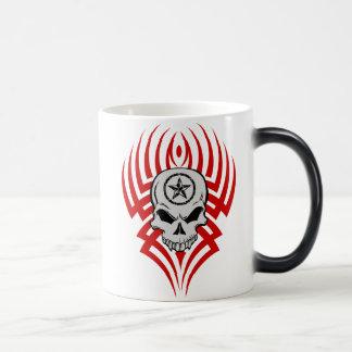 Tribal Skull Morphing Mug