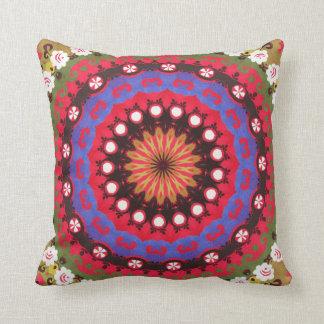 Tribal Southwest Santa Fe Boho Pattern Pink Cushion