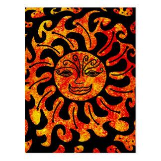 Tribal Sun Post Card