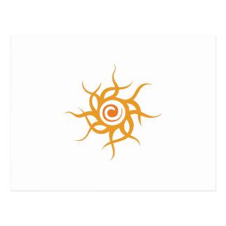 TRIBAL SUN POSTCARD