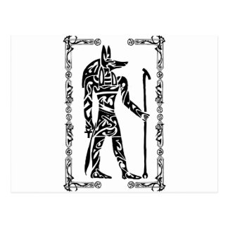 Tribal Tattoo Anubis Postcard
