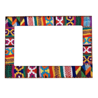 Tribal Textile Art Magnetic Picture Frame
