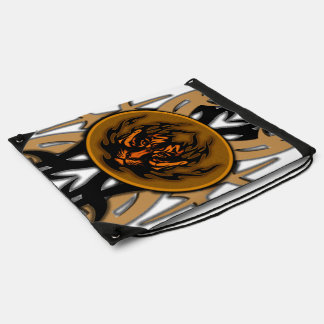tribal tiger symbol emblem drawstring bag