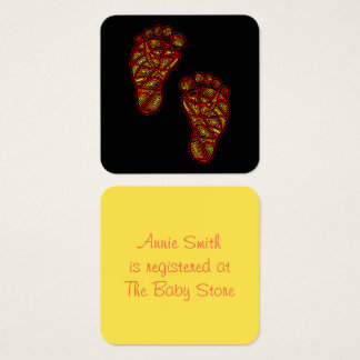 Tribal Toes Square Business Card