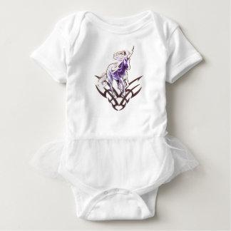 Tribal unicorn tattoo design baby bodysuit