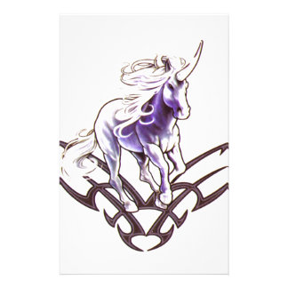 Tribal unicorn tattoo design customised stationery