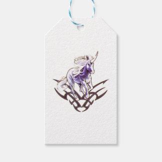 Tribal unicorn tattoo design gift tags