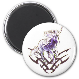 Tribal unicorn tattoo design magnet