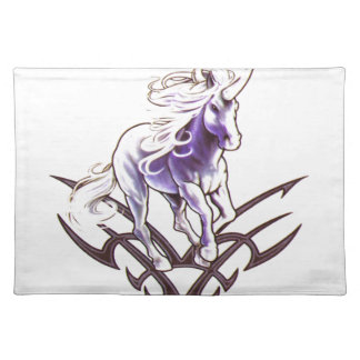 Tribal unicorn tattoo design place mat