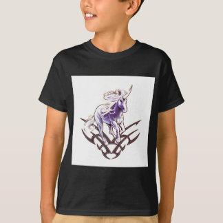 Tribal unicorn tattoo design T-Shirt