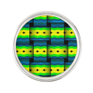 Tribal Weaves abstract pattern Lapel Pin