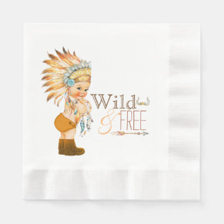 Tribal Wild and Free Boy Baby Shower Paper Napkins