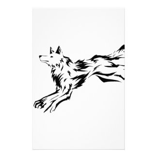 Tribal Wolf Stationery