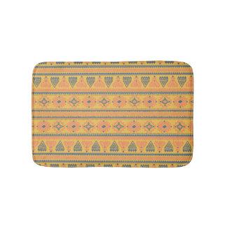 Tribal yellow orange Ethnic vintage Bath Mat