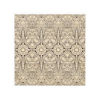 Tribal Zendoodle Design 5 Wood Wall Art