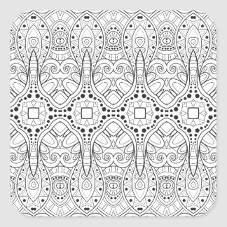 Tribal Zendoodle Design Square Sticker