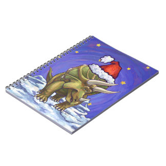 Triceratops Christmas Notebooks