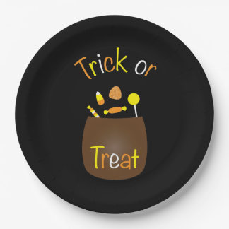 Trick or Treat 9 Inch Paper Plate
