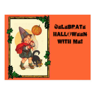 Trick or treat at Halloween Post Cards