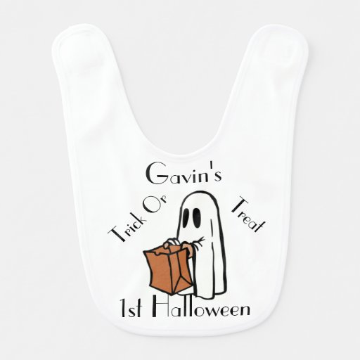 Trick or Treat Baby's 1st Halloween Baby Bib