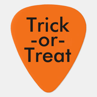 Trick-or-Treat Black & Orange Halloween Theme Guitar Pick
