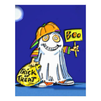 Trick or Treat Boo on Halloween 21.5 Cm X 28 Cm Flyer