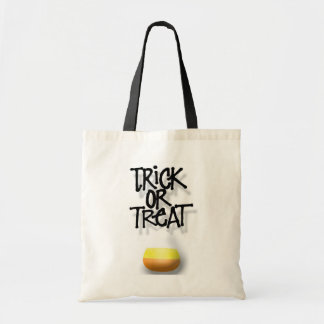 Trick or Treat Candy Corn Tote Canvas Bag