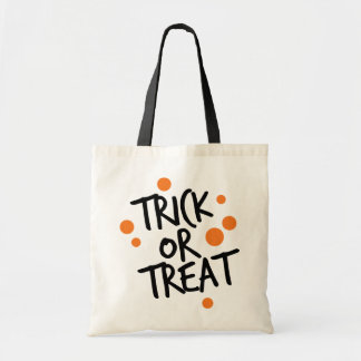TRICK OR TREAT DOTS | HALLOWEEN TOTE BAG
