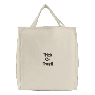 Trick Or Treat! Embroidered Tote Bag